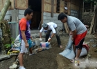 Working on the health center facility