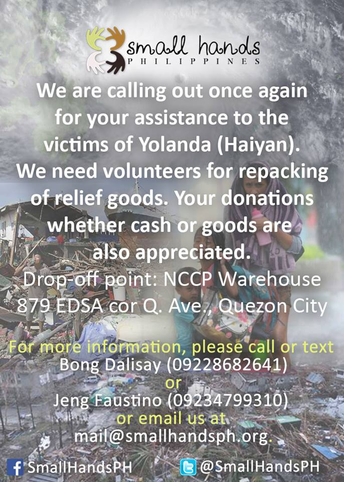 Let Us Help the Victims of Typhoon Yolanda
